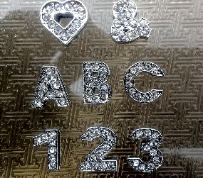 12mm slide letters/numbers