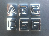 8mm slide letters stencil