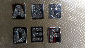 8mm slide letters solid