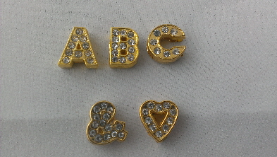 gold 8mm slide letters